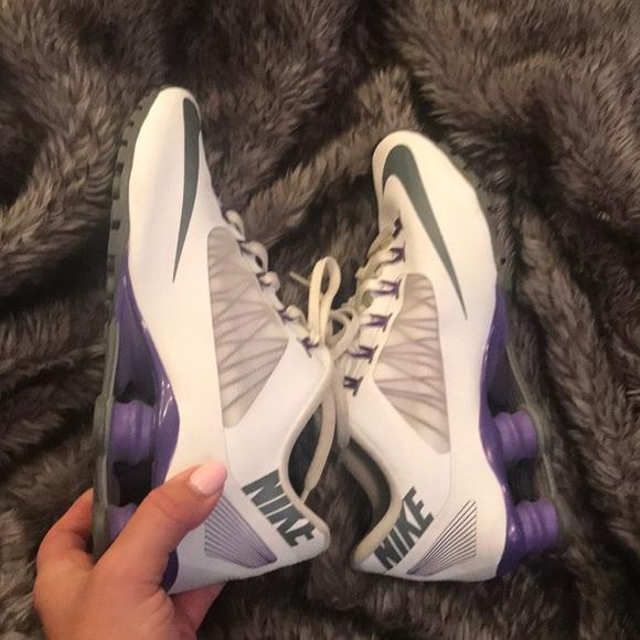 more photos 12f40 c5b98 Purple & White Nike Shox Size 7